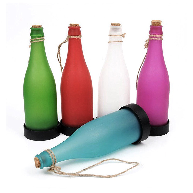 Solar Wine Bottle Light Lamp Solar Powered LED Outdoor Hanging Lights For Garden Landscape Lawn Party Courtyard Patio Decoration цена