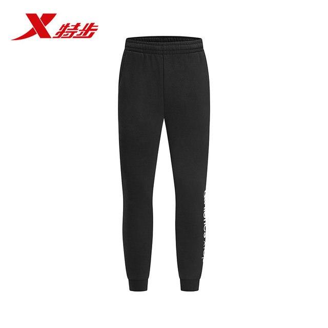 882429639549 Xtep брюки мужские 2018 зима новые плюс бархатные брюки мужские повседневные брюки рот трикотажные брюки