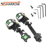 1 Set Archery Micro 5 Pins Bow Sight Aiming Frame Right Hand Aiming Improve Accuracy For Compound Sight Shooting Accessories