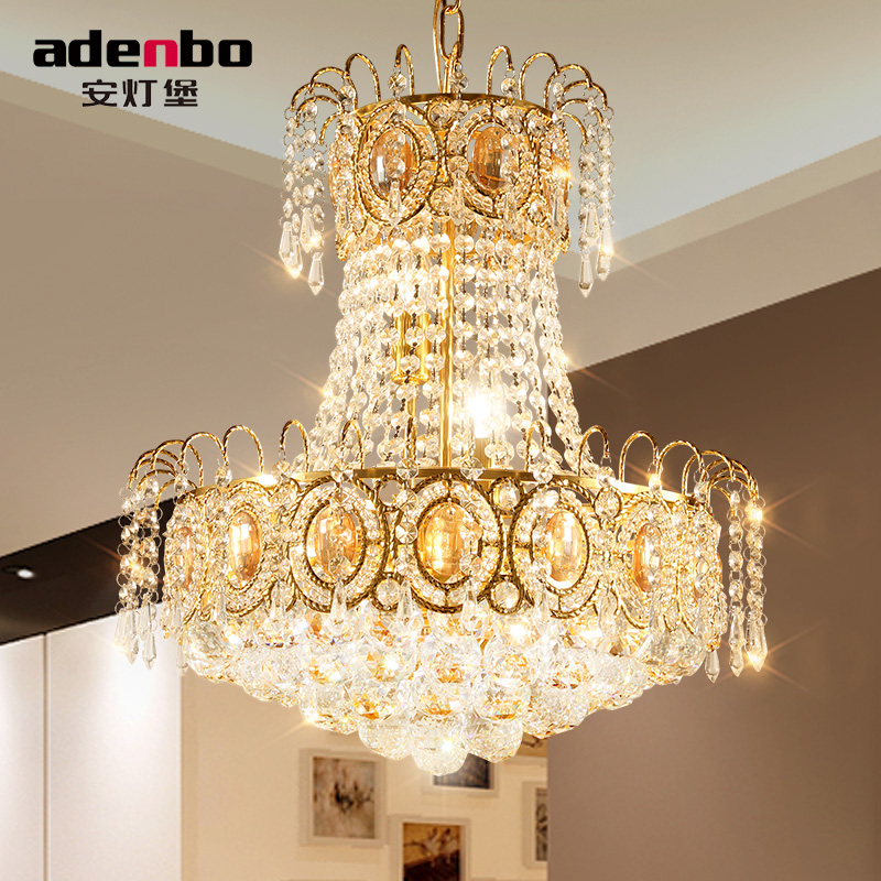 Modern Gold Led Chandelier Lighting Fixture Crystal Chandeliers Re Dining Room Lamp For Decoration 45cm In From Lights