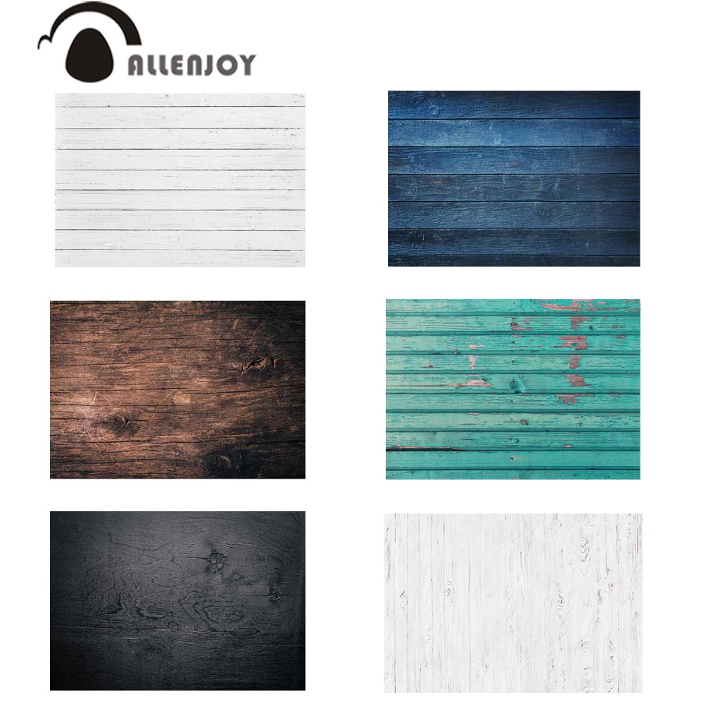 Allenjoy backdrop thin vinyl wooden wall white color blue brown black classic background for photo studio small size wallpaper studio m new black white printed split neck womens size small s tunic blouse $78