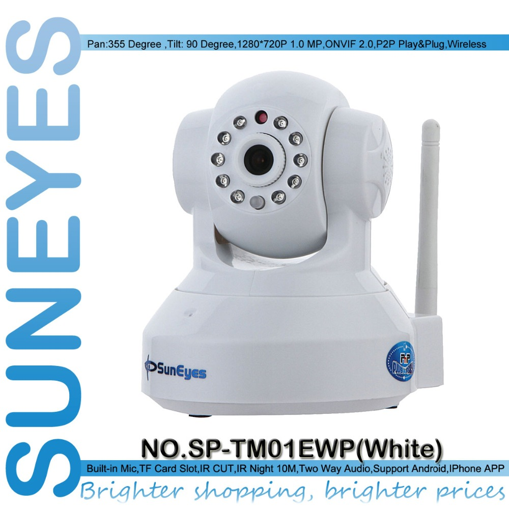 SunEyes SP TM01EWP 720P 1 0MP Megapixel HD IP font b Camera b font Wireless Wifi