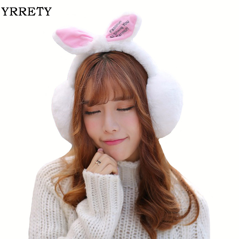YRRETY 2018 New Design Winter Warm Earmuffs Cute Women Comfort Oversized Earmuffs Plush Ear Muff Latest Earmuffs Drop Shiping