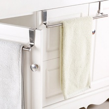 Bathroom Door Kitchen Towel Over Holder Drawer Hook Storage Scarf Hanger Cabinet Hanging Stainless Steel Towel Rack