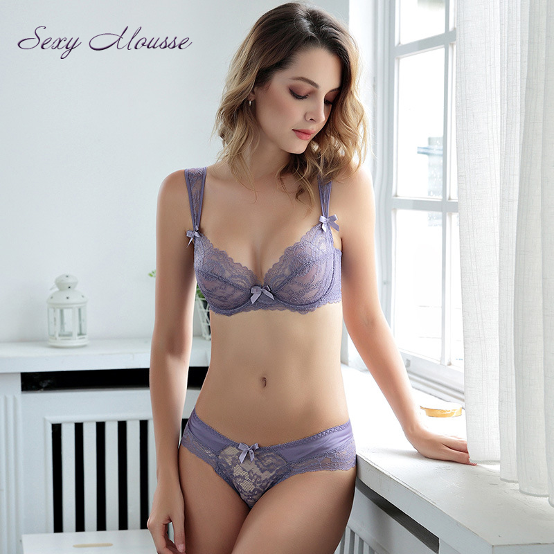 Sexy Girl Delicate Lace Hollow Out Bras Lingerie -8993