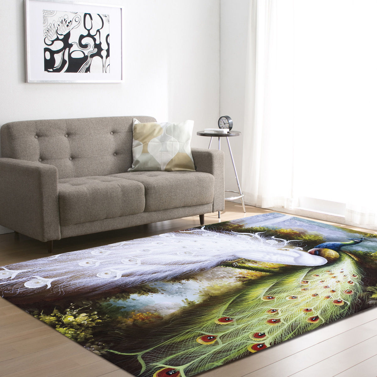8 Styles DeMissir 3D Peacock Print Living Room Carpet kids Bedroom Rug alfombra tapete para sala tapis salon teppich vloerkleed