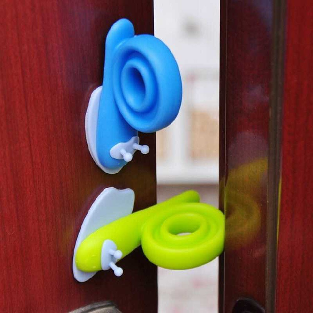 3 Pcs Different Colors EVA Plastic Baby Safety Door Stopper Protector Children Safe Snail Shape Door Stops Baby Care