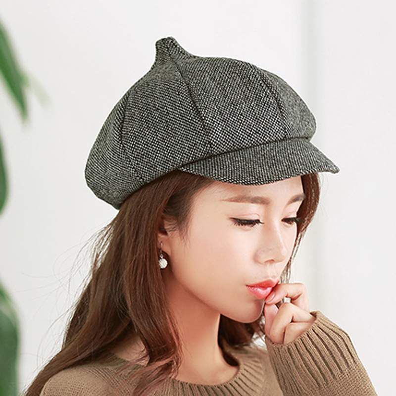 MAXSITI U Winter fashion new newsboy cap female winter warm  thickening cotton steeple hat