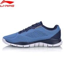 Li-Ning Для мужчин супер тренер M обувь на плоской подошве с гибкой дышащая подкладка светильник Вес Спортивная обувь Кроссовки AFHN017 YXX033