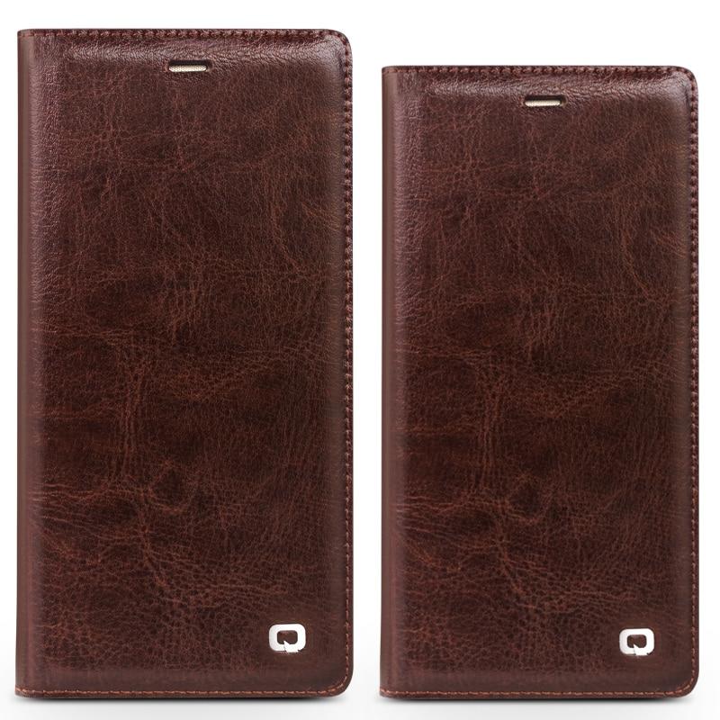 QIALINO BARU Kasus untuk Huawei Ascend P10 ditambah Mewah Kulit Asli - Aksesori dan suku cadang ponsel - Foto 4