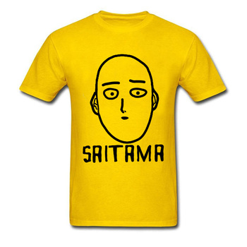 Free Shipping New Arrival One Punch Man T-Shirt SAITAMA OK Face Mens Workout T Shirt Stamp Men's Anime Show Tshirt 90's Boy 1