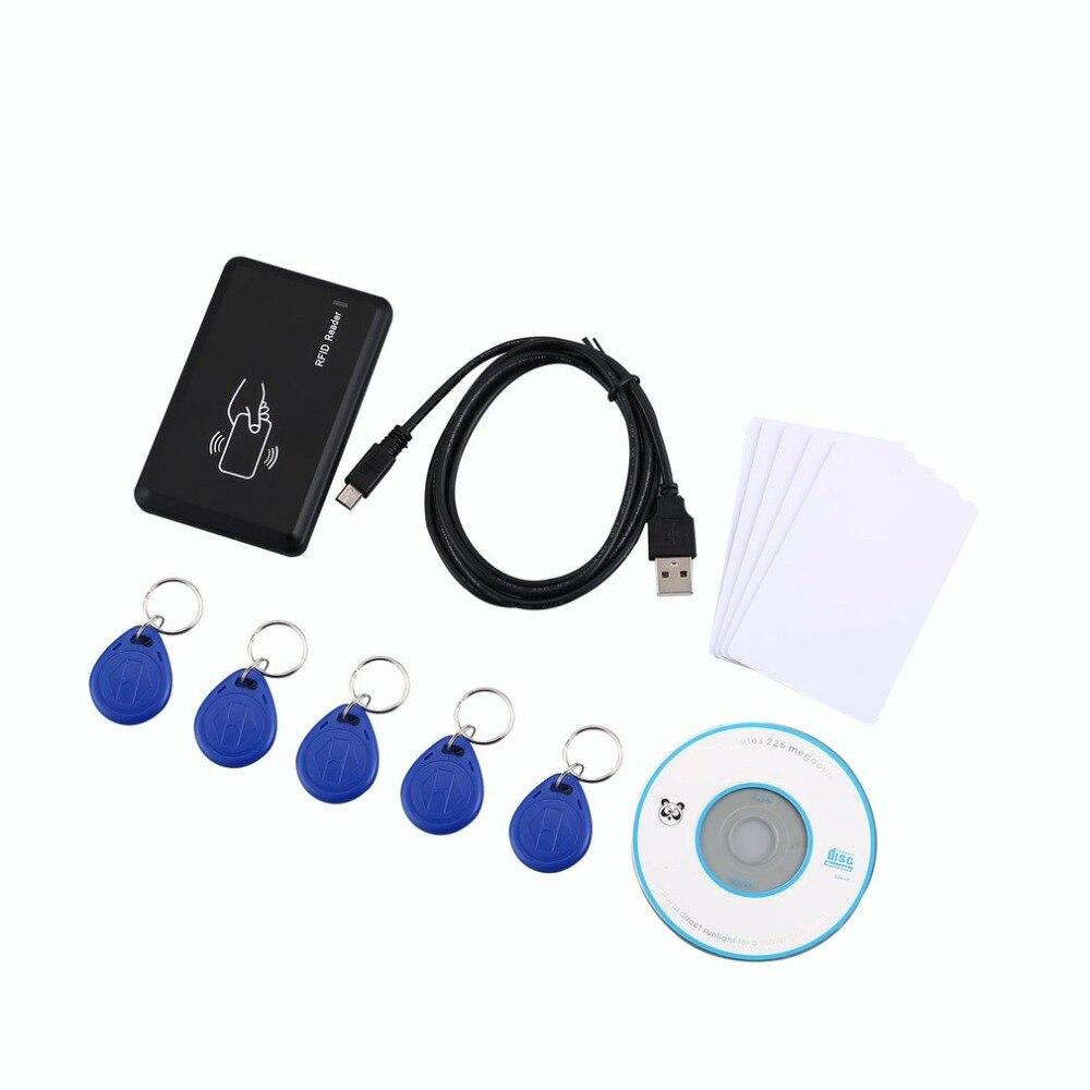 125 khz RFID USB Lecteur de Carte EM4305/Écrivain Noir Copieur/Écrivain Programmeur Brûleur + 5 ID Tags Clés /Cartes D'IDENTITÉ