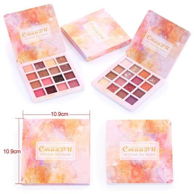 16 Colors Makeup Eyeshadow Palette Diamond Shimmer Glitter Eye Shadow Waterproof Long-lasting Makeup Eye Cosmetic TSLM2 3
