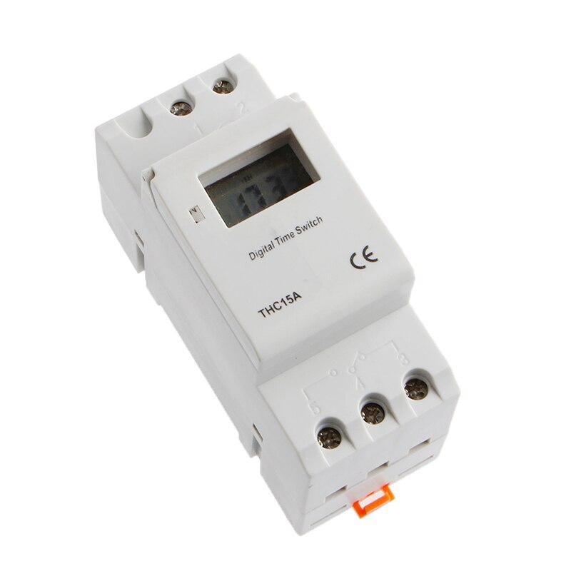 2017 New Digital LCD Programmable Timer 12V DC DIN Rail Time Relay Switch Power 5pcs lot x din rail time relay switch digital lcd power programmable timer dc 12v 16a