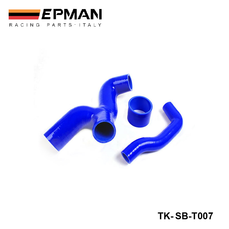 EPMAN - Intercooler Y- Pipe Hose kit for Subaru WRX Sti GDB/GGB 2.0  00-07(Ver.7-9) (3pcs) EP-SBT007 epman universal aluminum water to air liquid racing intercooler core 250 x 220 x 115mm inlet outlet 3 ep sl5046c