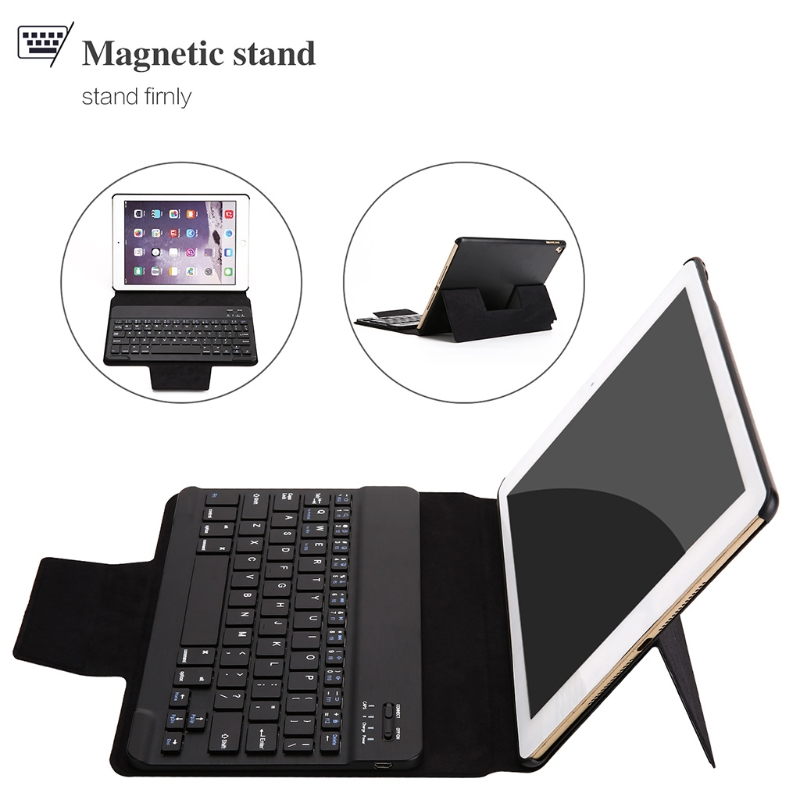 Folding Keyboard Bluetooth Case Leather Cover Folio Stand For iPad Pro 9.7/Air 1/2 2 folding luxury folio stand holder leather case protective cover for samsung galaxy note pro 12 2 p900 p901 p905 12 2 tablet