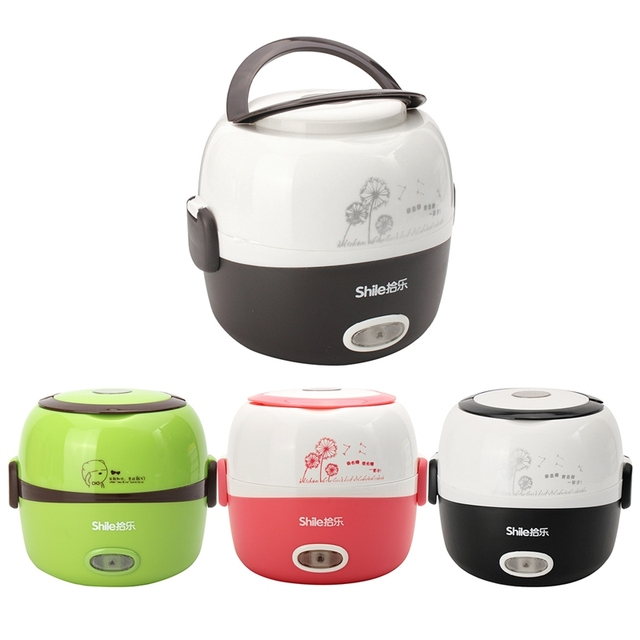 Electric Portable Rice Cooker With 2 Layers Steamer