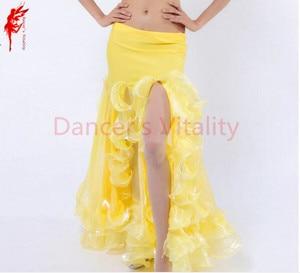 Image 5 - ホット販売! ベリーダンススカート女性ベリーダンススカート女の子ベリーダンスパフォーマンススカート9色女性ダンススカート