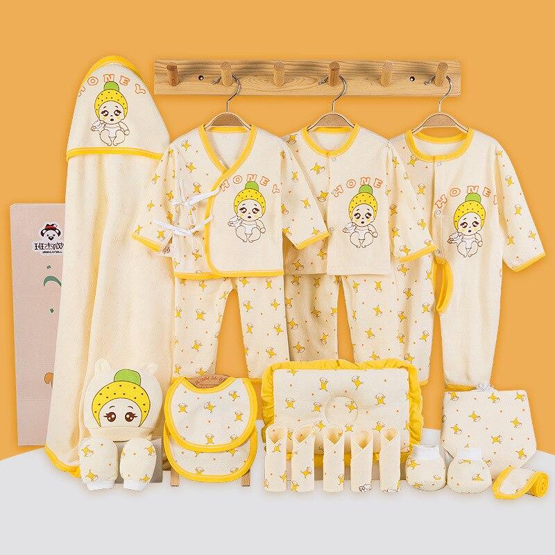 b49d92289 17 Pcs Set Infant Baby Girl Winter Clothes Sets Thick Cotton Newborn ...