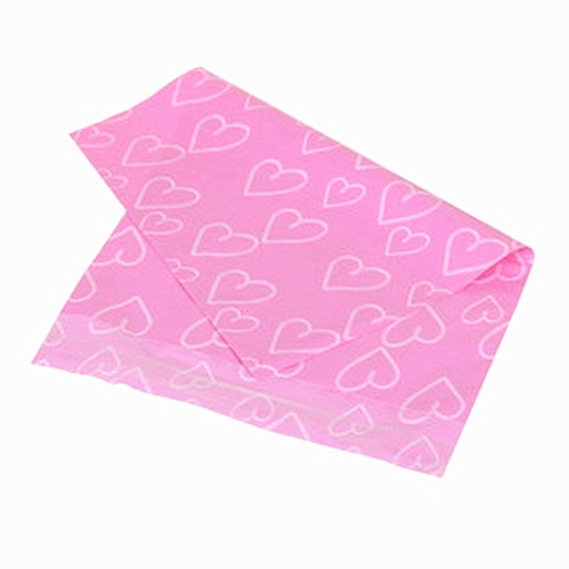 50pcs Light Pink Love Envelope Bag Self-seal Adhesive Courier Storage Bag Pink Heart Poly Mailer Postal Gift Box Baby Toys Bag