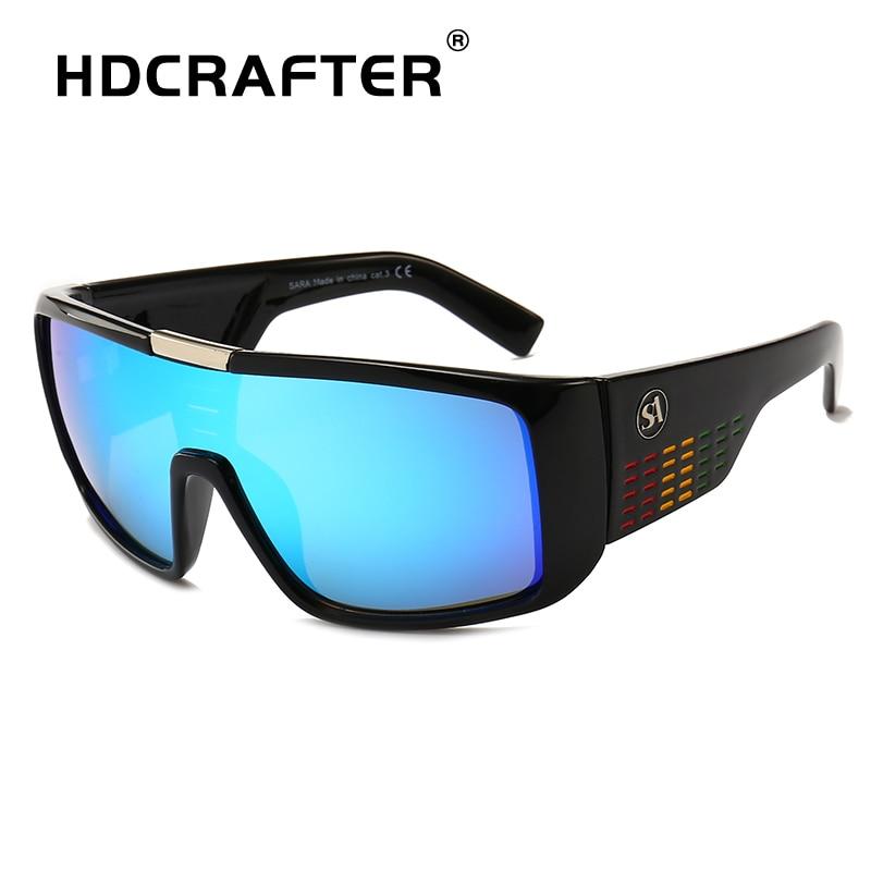 HDCRAFTER Brand Fashion Sunglasses Men Dragon Sport Mens Sun Glasses Women Designer Windproof Shield Plastic Frame UV400