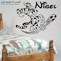 New 2015 TIGGER With Butterfly Vinyl Wall Decals Personalised Name Art Pegatina Adesivo De Parede For
