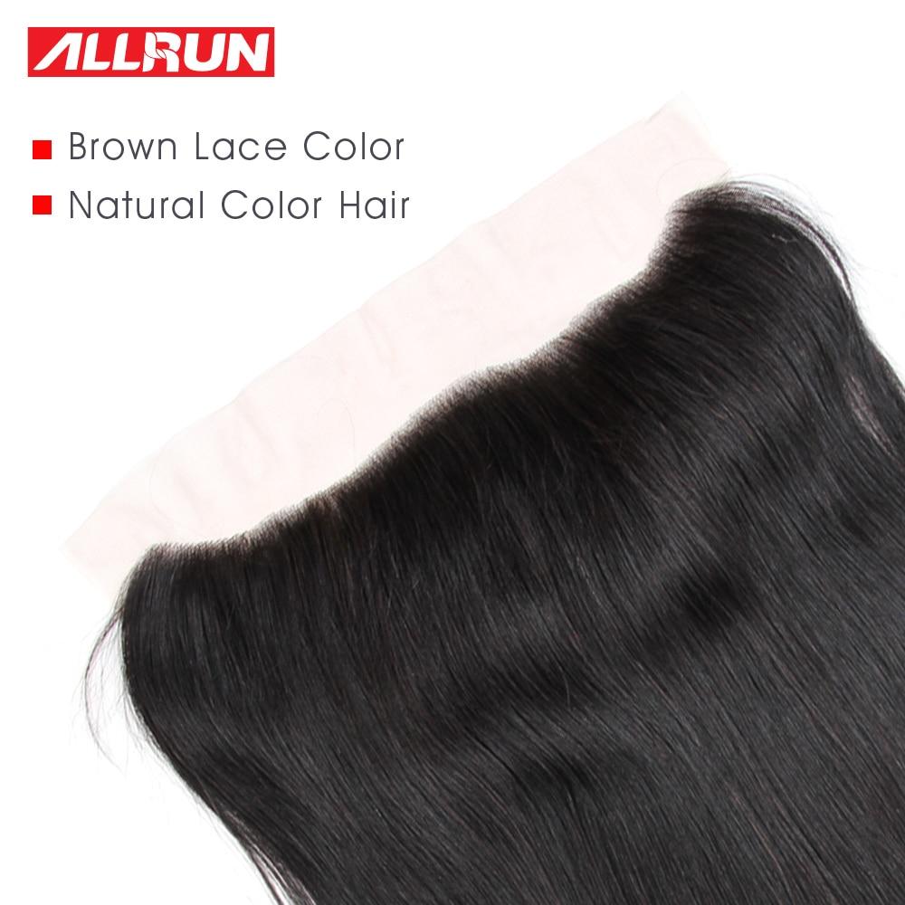 Allrun 13 * 4 귀에 귀에 레이스 정면 브라질 - 인간의 머리카락 (검은 색) - 사진 3