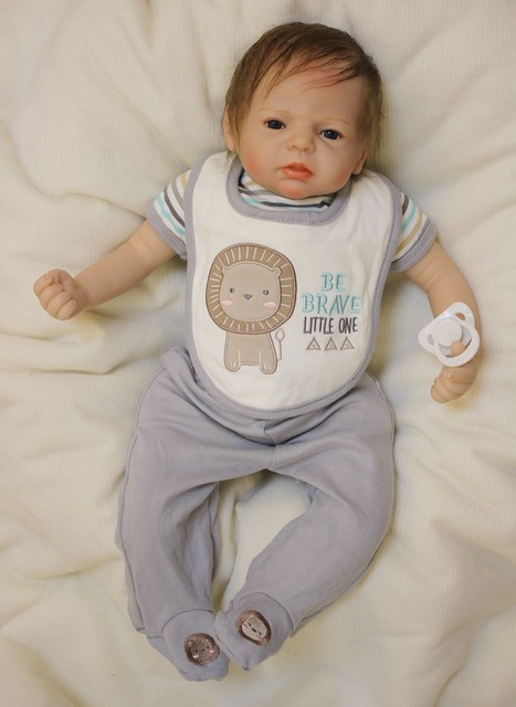 Силиконовые Reborn Baby Doll Игрушка 55 см Новорожденных Мальчик Кукла Реалистичные Подарки Ко дню Рождения Подарок Девушки Brinquedos Сном Играть Дома Т