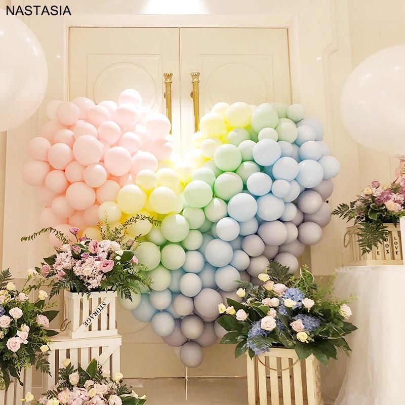 NASTASIA 20pcs macaron latex balloons 5 inch multicolor ballons birthday party  wedding Valentines Day supplies