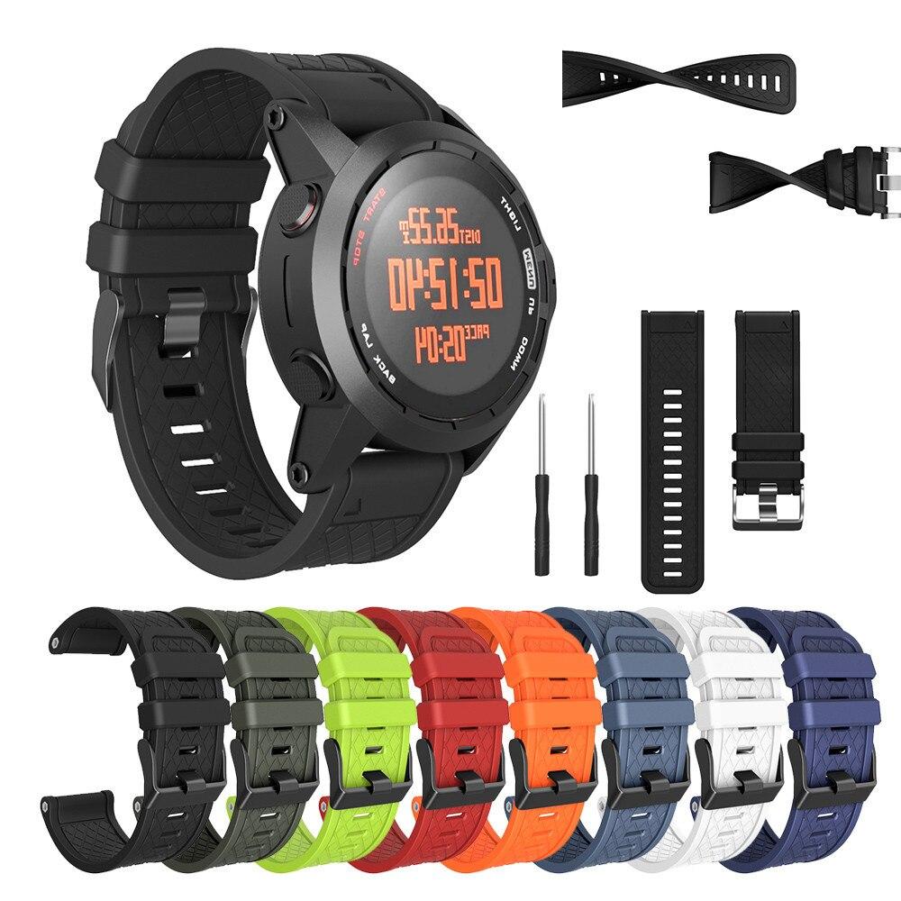 Fitness Bracelet Fenix/fenix Watch-Strap 2-Band Soft-Silicone for Easy-Fit 26mm-Width