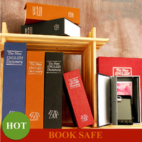 Portable Small Medium Large Size Dictionary Secret Hidden Book Safe Box With Key Password Lock Jewelry