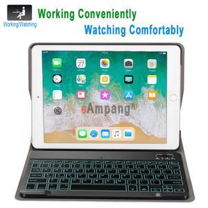 Image 2 - ضئيلة اللاسلكية للازالة بلوتوث لوحة المفاتيح حالة تغطية لتفاح باد الهواء 1 2 برو 9.7 5 6 جديد باد 9.7 2017 2018 A1822 A1893