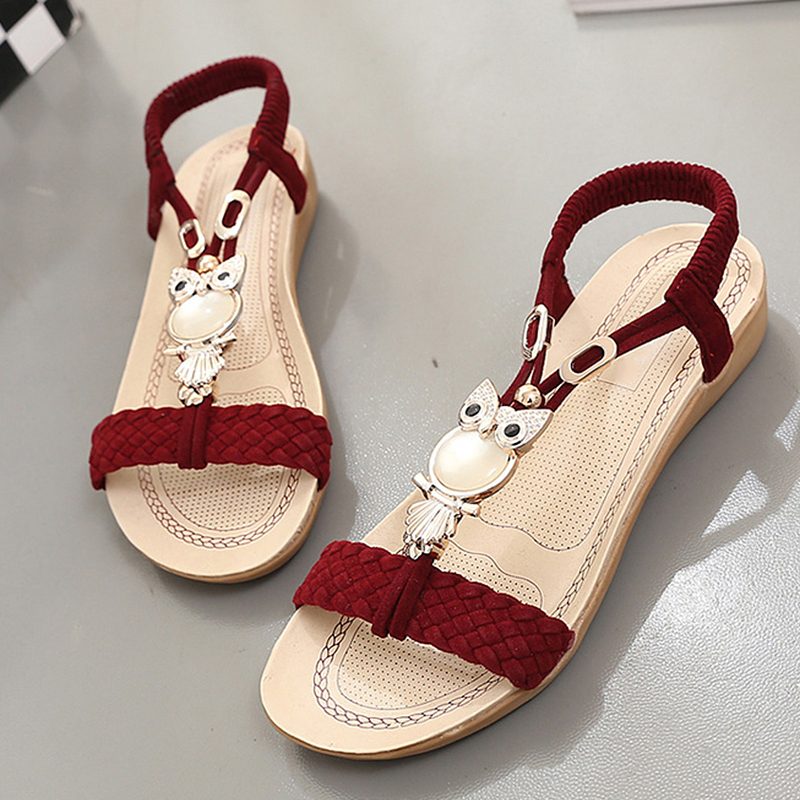 2018 Women Sandals Flats Flip Flops Women Shoes Beach Summer Slip On Cool Pearl Korean Women Casual Shoes gladiator sandals phyanic crystal shoes woman 2017 bling gladiator sandals casual creepers slip on flats beach platform women shoes phy4041