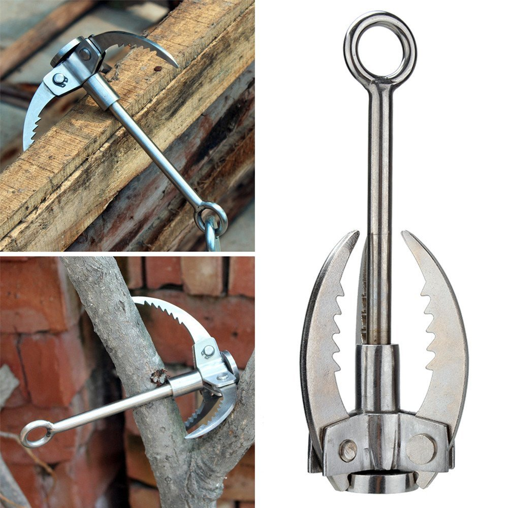 High Quality Stainless Steel Grappling Hook Folding Survival Claw Multifunctional Outdoor Camping Hiking Climbing Accessories grappling black diamond hook