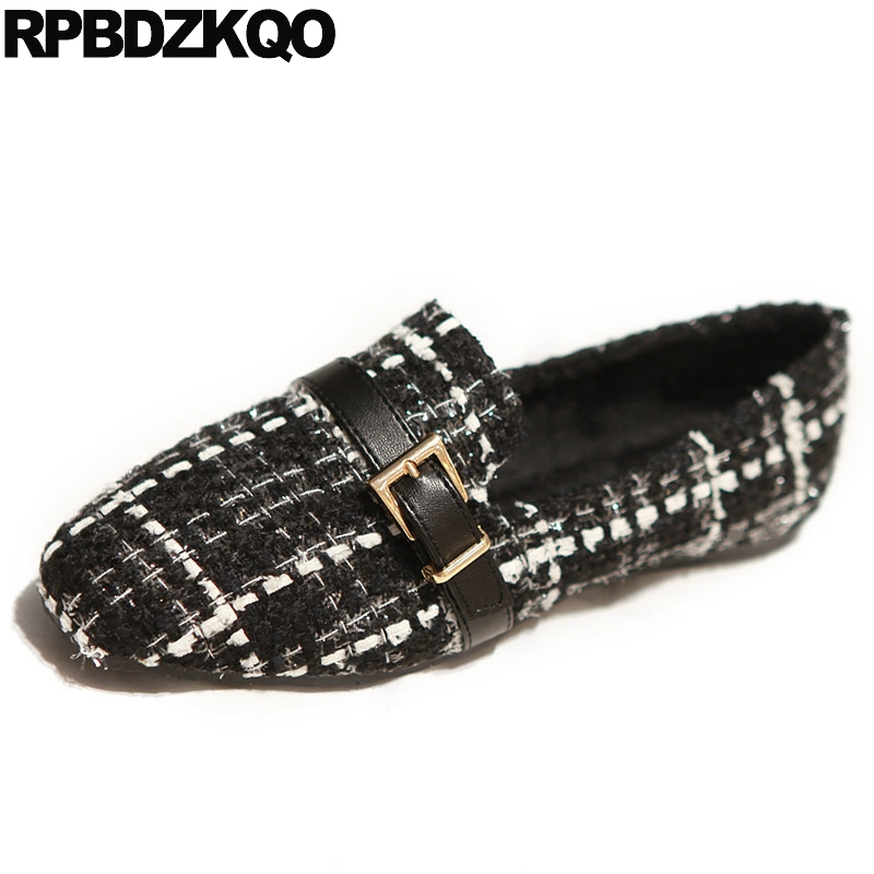 Unique Metal Ladies Woven Elastic Shoes Women Flats Breathable Latest Square Toe Black Slip On Drop Shipping European Fashion pointed toe 2017 large size rivet ladies latest metal flats ankle strap red wine star pearl women beautiful shoes drop shipping