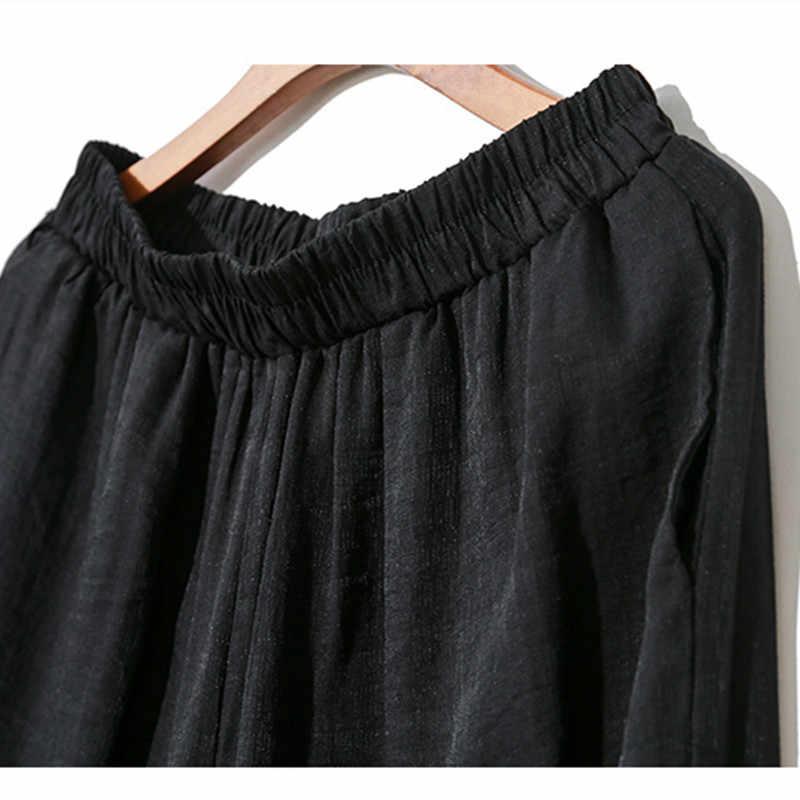 Johnature 2019 lato nowy dorywczo mody kobiety dwa kawałki ustawia nieregularne swetry Top w pasie długość łydki spodnie kobiece zestawy
