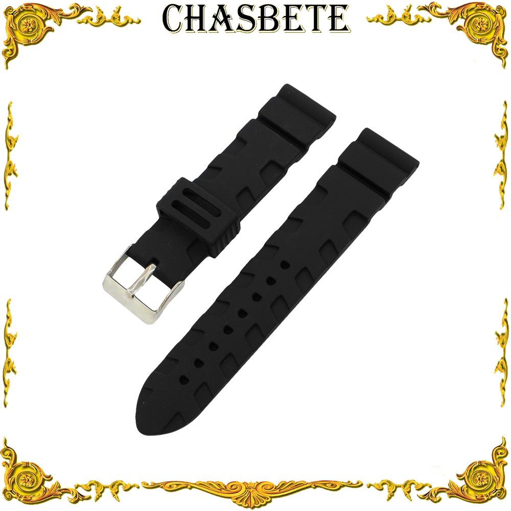 все цены на 20mm 22mm 23mm 24mm Silicone Rubber Watch Band for Citizen Watchband Resin Strap Wrist Loop Belt Bracelet Black + Pin + Tool