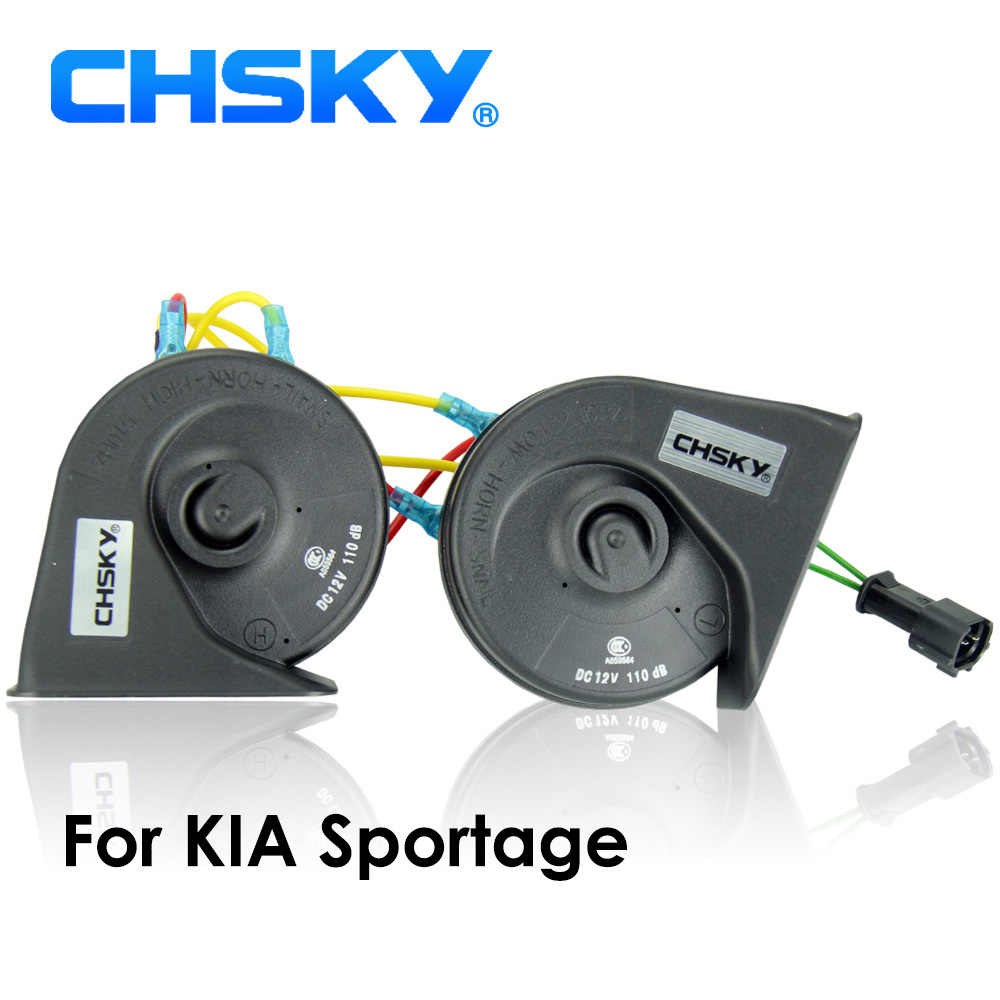 CHSKY Car Horn Snail type Horn For KIA Sportage 2013 12V Loudness 110-129db Auto Horn Long Life Time High Low Klaxon Car Styling