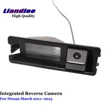Liandlee For Nissan March 2011~2015 Car Reverse Parking Camera Backup Rear View Camera / SONY HD CCD Integrated Nigh Vision liandlee for audi rs6 2008 2009 car rear view backup parking camera rearview reverse camera sony ccd hd integrated nigh vision