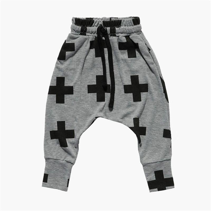 Kids Toddler Baby Boy Girls Printed Harem Pants Trousers Bottom Shorts Cotton