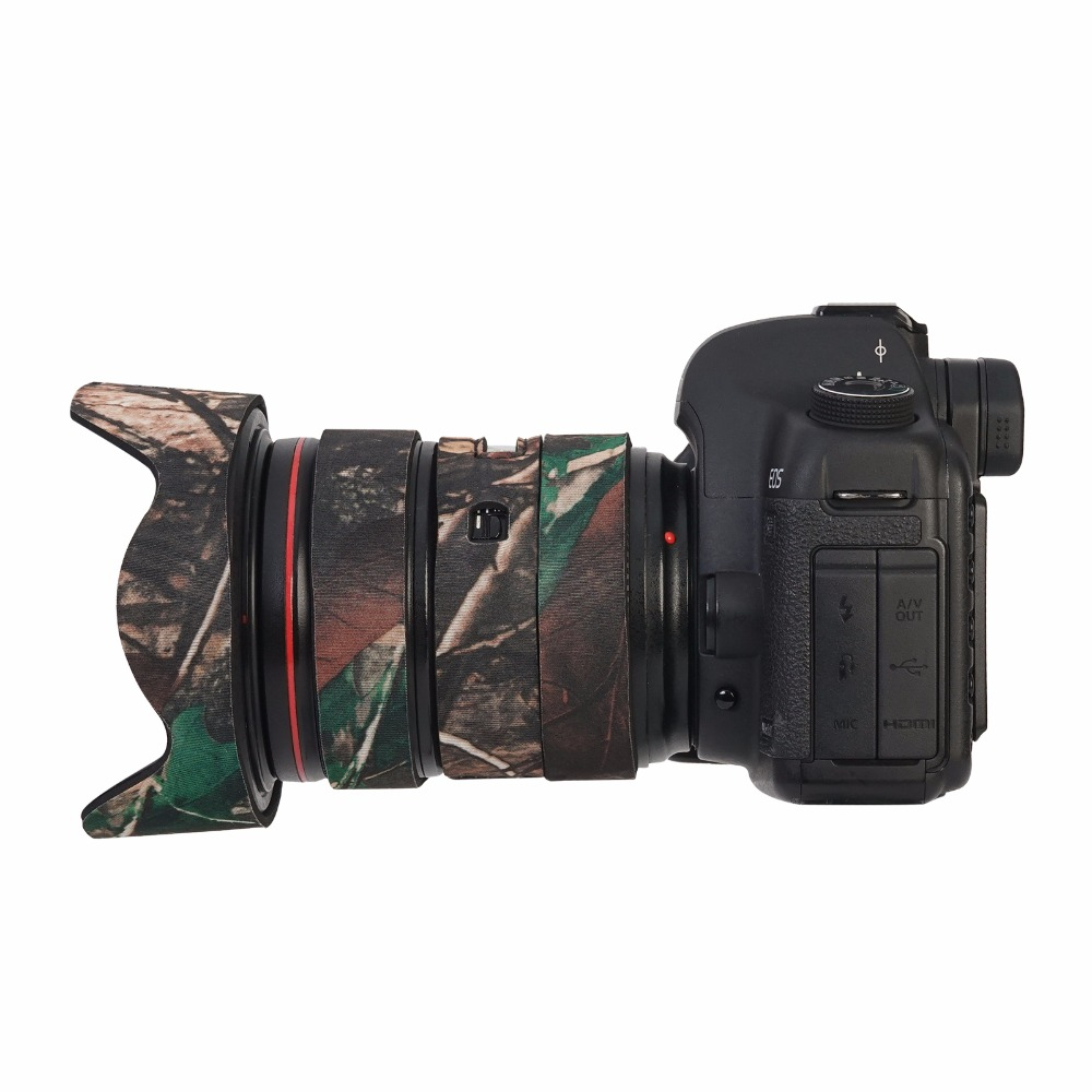Waterproof Camera lens protective case guns clothing Lens Coat Camouflage Body Cover for Canon 24-70mm F/2.8 II