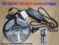 SMD 5050 RGB Impermeabile IP65 300 LED Light Strip + 44 Tasti IR Remote Controller + 12 V 5A Power adattatore set completo di Buona qualità