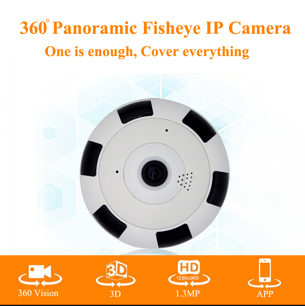 360 Degree smart panoramic IPC Wireless IP Fisheye Camera Support Two Way Audio P2P 960P HD wifi camera erasmart hd 960p p2p network wireless 360 panoramic fisheye digital zoom camera white