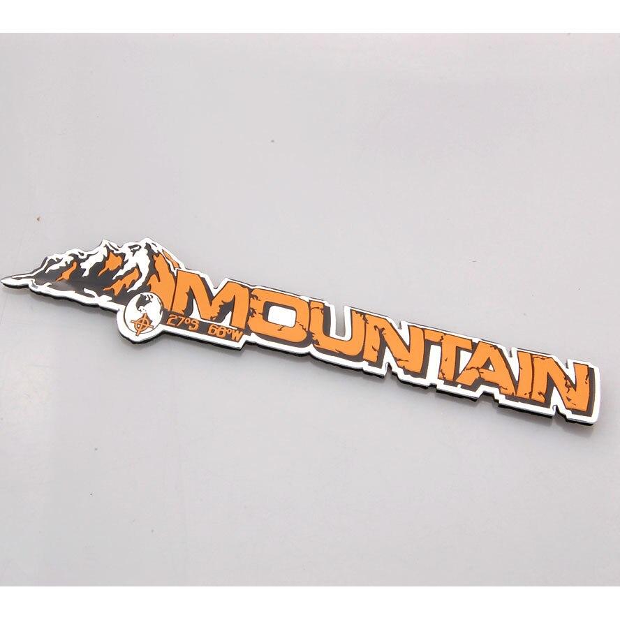 Авто алюминиевой фольги горных эмблема наклейка значок наклейка Декор, пригодный для Jeep Компас Гранд Чероки стайлинга автомобилей аксессуары