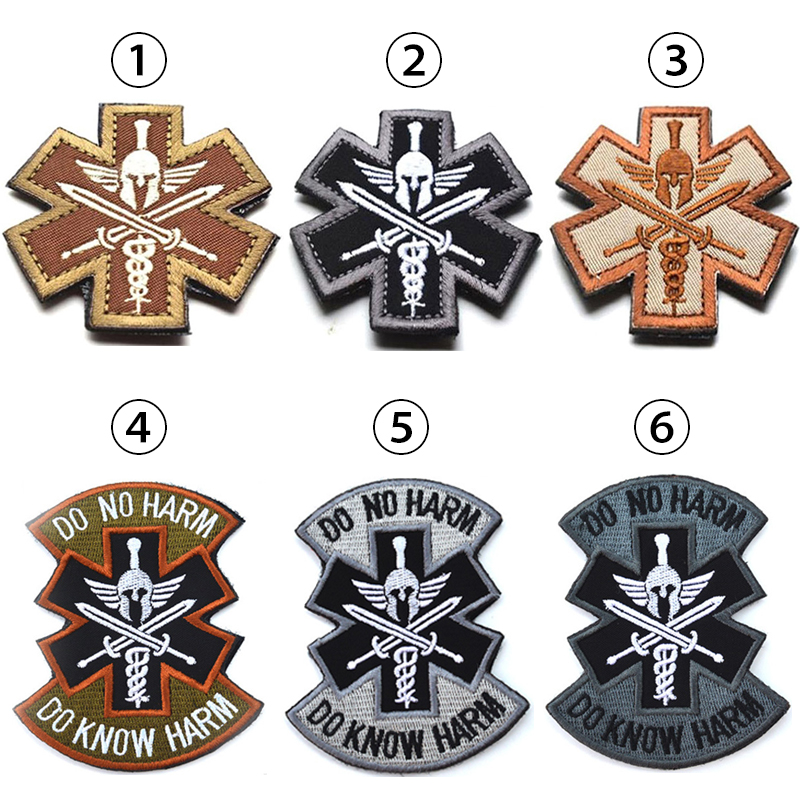 Apparel Sewing & Fabric 3d Spartan Medic Tactical Embroidered Military Emt Morale Badge