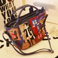 2015 Tottyblu SnowJenny brand Italy Handicraft Art City girl women messenger bags Shoulder Bag Female Tote Bag Handbag