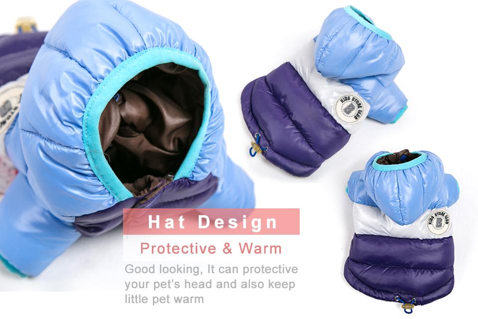 Nueva ropa de invierno para perros, abrigo impermeable con capucha 10