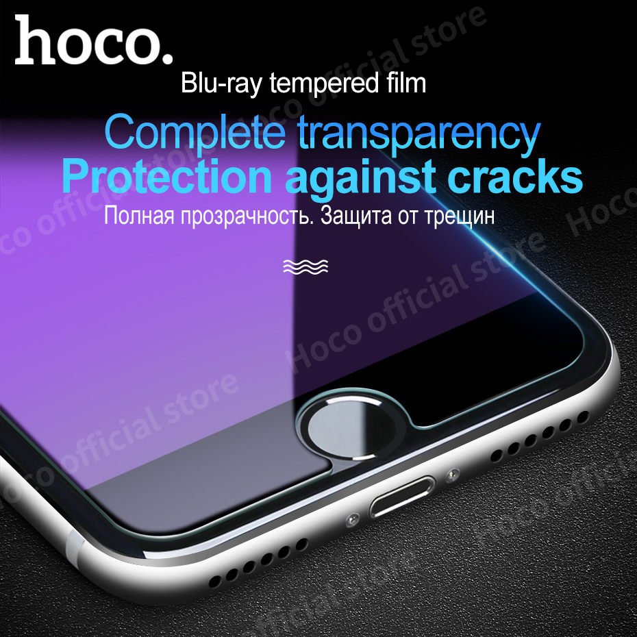 Original Hoco for iPhone 7 & 7 PLUS High Definition <font><b>Blu-ray</b></font> Tempered protective glass film screen <font><b>protector</b></font> durable iPhone7 +