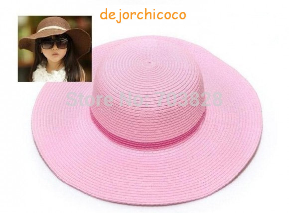 Sunbonnet Baby Girls Beach Hat children's Summer Hat Sun Hats kids summer  topee  sun Straw cap 10pcs/lot [dejorchicoco]