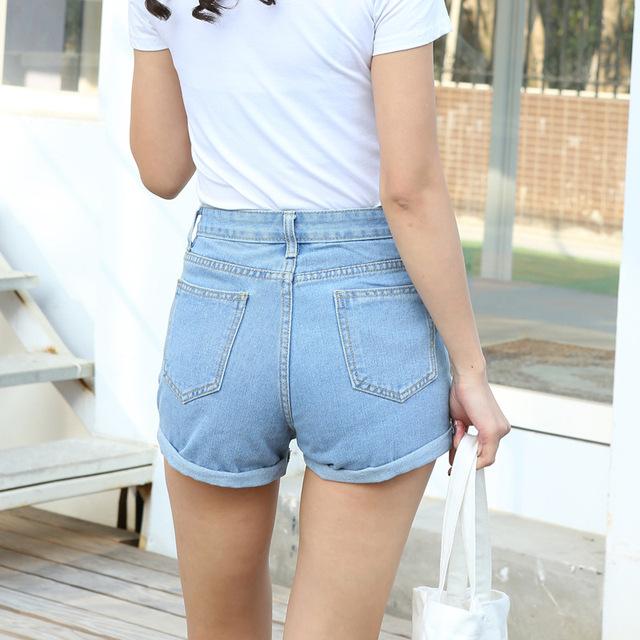2017 Spring Summer New Fashion Ladies High Waist Denim Shorts